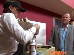 Punishbox - barista gets punished