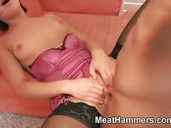 Naughty chick riding a well hung guy