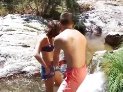 Pov fishing a tiny spanish teen