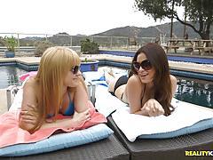 Jayme langford and vanessa veracruz slurp minge outdoors