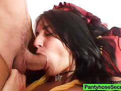 roxy taggart, blowjob, doggystyle, nylons