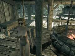 Riverwood slut bangs faendal, cheats with alvor, and ends with the town drunk.