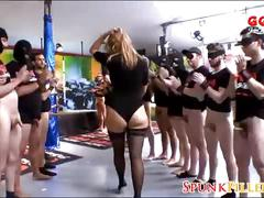 Excited german slut gets group bukkake