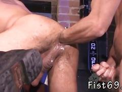 Cock hungry gay dude gets his ass fisted without mercy
