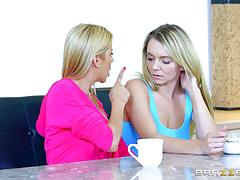 alexis fawx, molly mae, tits, blonde, lesbian, fingering, licking, girls, orgasm, 69, girl on girl, licking pussy