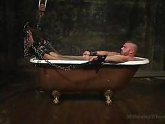 gays, gay handjob, tattooed gay, torture, suspended, water bdsm, 30 minutes of torment, kink men, tryp bates
