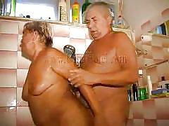handjob, granny, massage, old man, bbw mature, washing, dick sucking, in shower, oma hotel, old nanny, heidrun