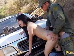 Russian amateur babe gets pounded by border patrol agent