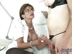 Unfaithful british mature lady sonia presents her massive titties