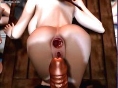 big boobs, hardcore, hentai, blowjob, cumshot, anime, cartoon