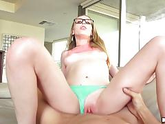 roxy nicole, blowjob, doggystyle, facial, glasses, horny, hot, cum, sexy, nerd, skinny, caught, sucking, fucking
