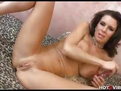 Perfect milf with smoking hot body pleasures her pussy