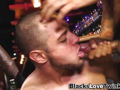 black, interracial, cumshot, hardcore, facial, threesome