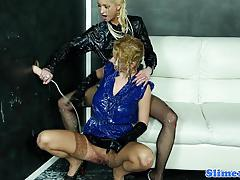lesbian, stockings, heels, fisting, euro, fetish, gloves, pussylicking, gloryhole, glamour