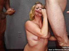 Facial cum slut compilation from blowbang girls