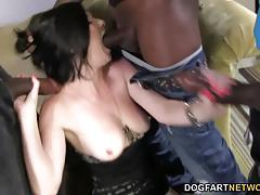 Babe veruca james sucking cock in threesome