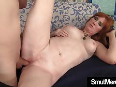 Mature redhead gets her pussy slammed