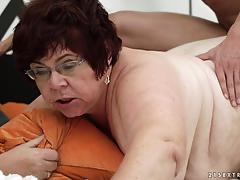 riding, doggystyle, cumshot, older, fat, cowgirl, on top, chubby, mature, old, grandma