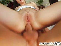 Ass traffic horny guy butt-bangs ann who loves cum swallowing