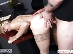 Big tits blonde sarah vandella gets anal sex in the office - naughty americ