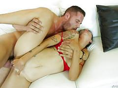 Hot babe dana vespoli drains danny mountain