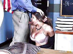 milf, threesome, deepthroat, school, big boobs, brunette, tit fuck, cock sucking, big tits at school, brazzers network, tommy gunn, alexis fawx, brooklyn chase
