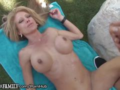 cumshots, public, milf, old/young, outofthefamily, outside, mom, mother, cougar, older-younger, doggystyle, gonzo, shaved, big-tits, fake-tits, outdoor, pounded, big-load