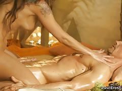 Luscious babe gives sensual massage