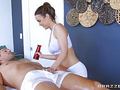dillion harper, brunette, blowjob, riding, doggystyle, reverse cowgirl, cowgirl, 69, natural tits, sucking, licking pussy