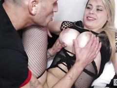 Castingallaitaliana - italian blonde eats cum during hot sex