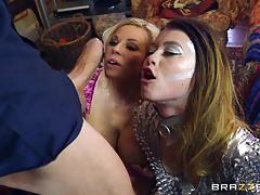 Michelle thorne and misha cross drilled by a thick dick