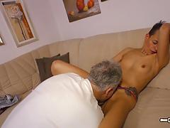 German amateur devours this hard dick