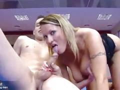 Big breast milf fucks 18 year old boy in gym - mp4 high quality