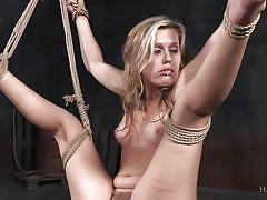 Kink loving blonde babe gets punished by a black master