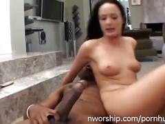 Hot bitch melissa with big black cock in every hole interracial dp