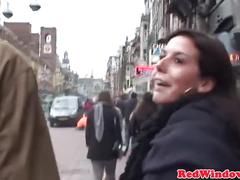 Black amsterdam prostitute handles white guy