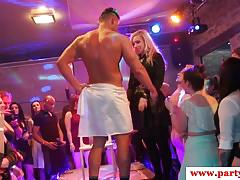 European babes fuck in orgy