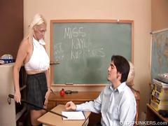 Hot, huge boobs old spunker fucks a lucky younger guy