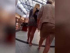 Perfect curvy slut in tight dress