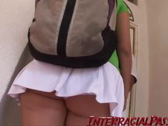 School girl jenny takes a massive black cock!