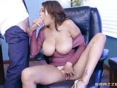 Brazzers - cassidy banks gets some big white cock at work