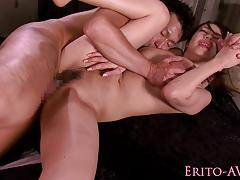 Busty asian gets her pussy slammed