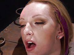 Blonde lady tied punished and dominated