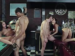 The job sn 1 asa akira and adriana chechik hot foursome action