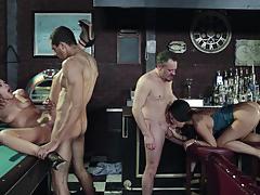 The job sn 1 asa akira and adriana chechik hot foursome action