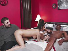 Watch me fuck this well endowed black dude @ mom's cuckold
