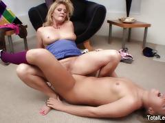 Luscious babes enjoy lesbian fuck