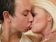 Dick loving mature blonde