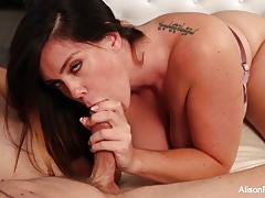 alison tyler, brunette, blowjob, hardcore, big tits, tattoo, lingerie, busty, babe, pornstar, oral, big boobs, cum in mouth, blow job