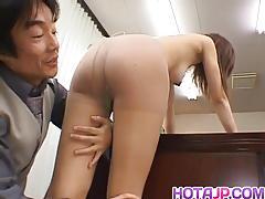 Sensual asian slavers over this hard dick